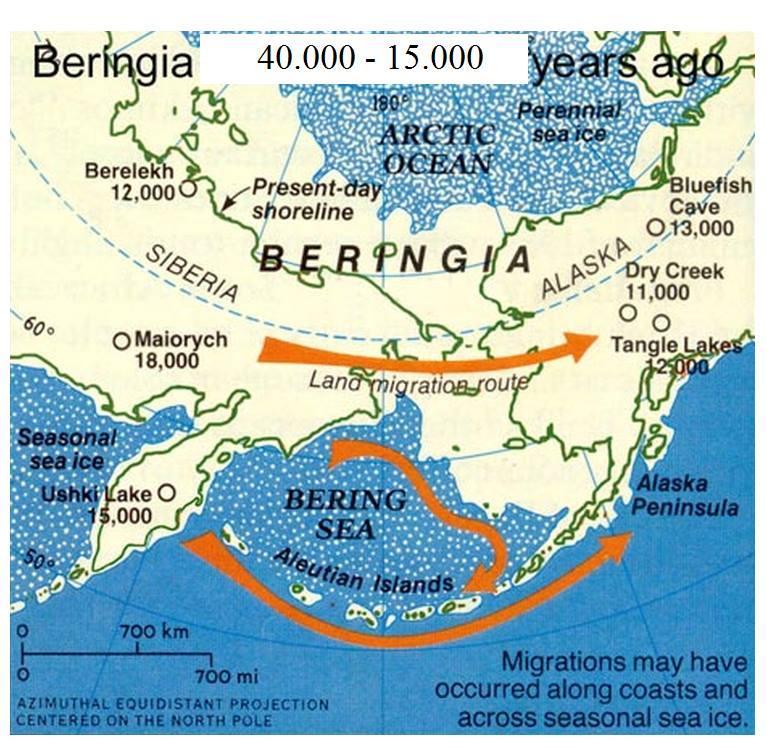 La Beringia, essenziale per l'occupazione del Nuovo mondo