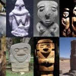 Serie di statue di luoghi lontani nello spazio e nel tempo che riproducono il medesimo prototipo