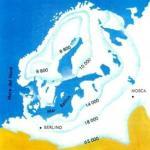 L'estensione e il progressivo ritiro della calotta glaciale