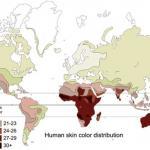 Il colore della pelle oggi