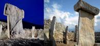 Le Taulas di Minorca del III millennio a.C. (a destra) ricordano le colonne di Gobekli Tepe (sinistra)