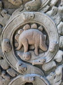 Bassorilievo cambogiano