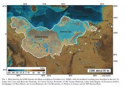 L'estensione della calotta euroasiatica durante il massimo glaciale
