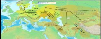 Le migrazioni degli ariani (R1a)
