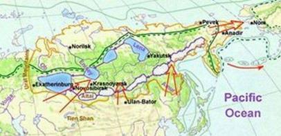 Le rotte dei cacciatori siberiani