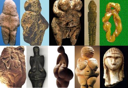 Tan-Tan, Berekhat Ram, Hohle Fels. Mal'ta, Balzi Rossi, Laussel, Dolni Vestonice, Lespugue, Willendorf, Brassempouy