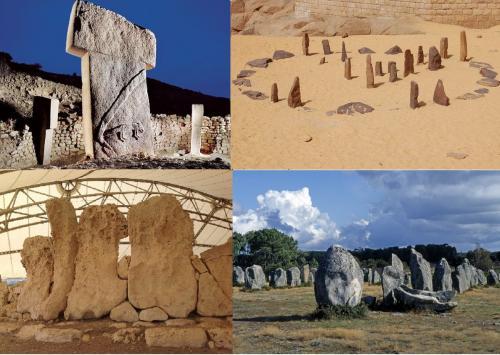 Gobekli Tepe (Turchia), Nabta Playa (Egitto), Hagar Qim (Malta), Carnac (Francia)